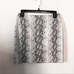 Missguided Faux Snakeskin Mini Skirt in Grey